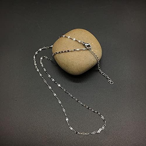 XKMY 5 collares de cadena de eslabones de acero inoxidable de 17.7 pulgadas para mujer con cierre de langosta para hacer joyas de diámetro de 1 1.5 2 mm (color: cadena corta, tamaño: 1 mm)