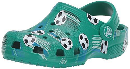 CROCS Classic Sport Ball Clog PS, Infradito Tempo Libero e Abbigliamento Sportivo Unisex-Bambini, Verde (Verde Intenso), 20 EU