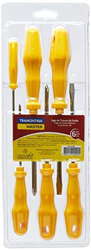 Tramontina 41516506, Jogo de Chaves de Fenda 6 Peças, Amarelo