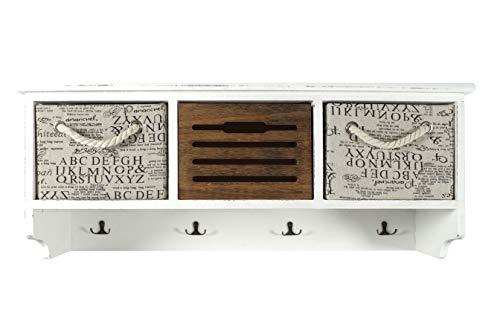 Kobolo Wandgarderobe Garderobenpaneel Garderobe Wandregal - Holz - Vintage