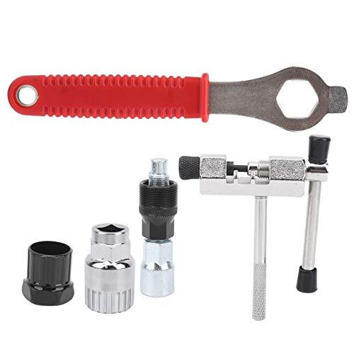 DAUERHAFT Kit de reparación de Bicicletas Soporte de extracción de Cadena de Bicicleta Estable con Ahorro de energía Compacto, para Reparaciones de Bicicletas