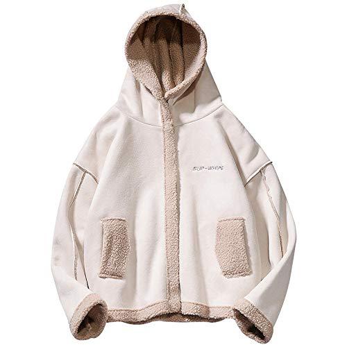 Mantel herfst en winter imitatie lamsvel warme katoenen mantel Koreaanse versie Het vlot merk eenvoudig borduurwerk shirt paar modellen losse jas