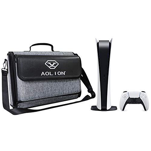 Bolsa de transporte para PS5 Games Host, cubierta, bolsa de hombro, bolsa de almacenamiento universal para PS5, al aire libre, resistente a la intemperie, a prueba de polvo, maleta
