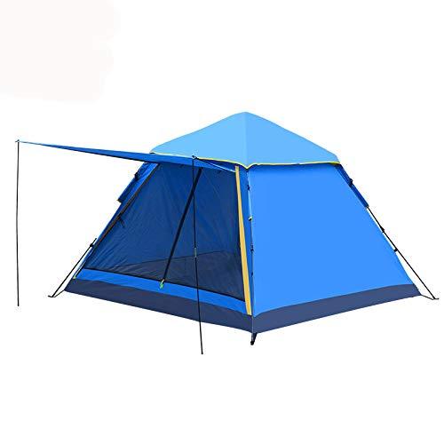Dorling Kindersley Multimedia - DK Tenda Outdoor Tenda Automatica 3-4 Persone Doppia Tenda Ispessimento Antipioggia Camping Wild Camping,Blue