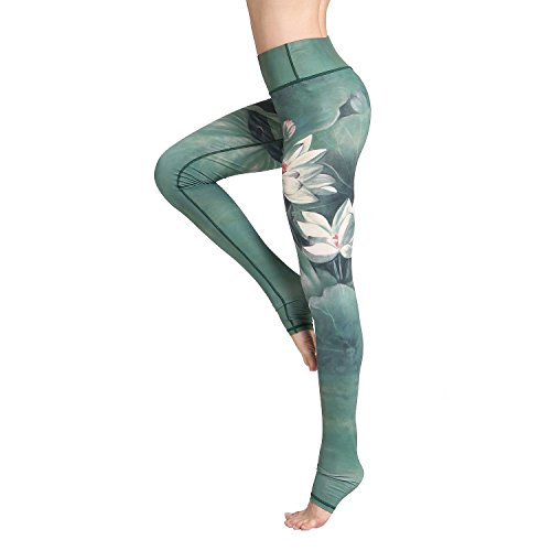 Witkey Printed Long Women Yoga Leggings High Waist Tummy Control Over The Heel Yoga Pants