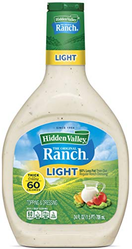 Hidden Valley Original Ranch Light Salad Dressing & Topping, Gluten Free - 24 Ounce Bottle (Package May Vary)