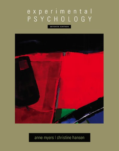 Experimental Psychology (PSY 301 Introduction to Experimental Psychology)