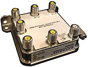 Extreme 6 Way Balanced HD Digital 1GHz HIGH Performance Coax Cable Splitter - BDS106VF