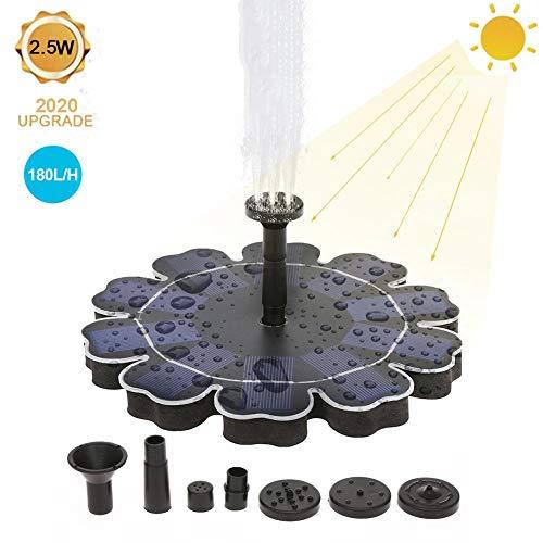 Cokeymove 2,5-W-Solarbrunnenpumpe, Mini-Solarvogelbad-Schwimmbrunnen, wasserdichte Springbrunnenpumpe für den Gartenteich im Freien