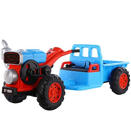 QqHAO Infantil Scooter eléctrico del Tractor, con la música, Puede Sentarse en...