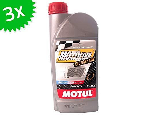 MOTUL Motocool Factory Line (rouge) liquide de refroidissement, 3X 1 litre, 3 litre compatible pour scooter, moto