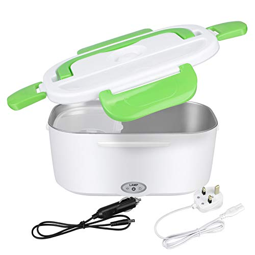 Electric Heating Lunch Box 2 in 1 for Car 12V & 220V Portable Microwave Food Warmer Steamer Heater 1.5L Adult Lunch Container Bento Box