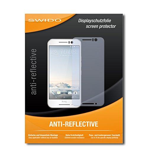 SWIDO Schutzfolie für HTC One S9 [2 Stück] Anti-Reflex MATT Entspiegelnd, Hoher Festigkeitgrad, Schutz vor Kratzer/Bildschirmschutz, Bildschirmschutzfolie, Panzerglas-Folie