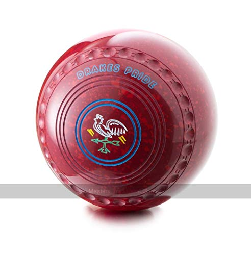 Drakes Pride Professional Bowls - Maroon Red, Gripped, Size 3, Heavy
