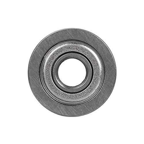 10 unids 13 * 4 * 4 mm V ranura sellada Guía Polea Carril Guía de acero Rodamiento rígido Una hilera de acero prensado jaula