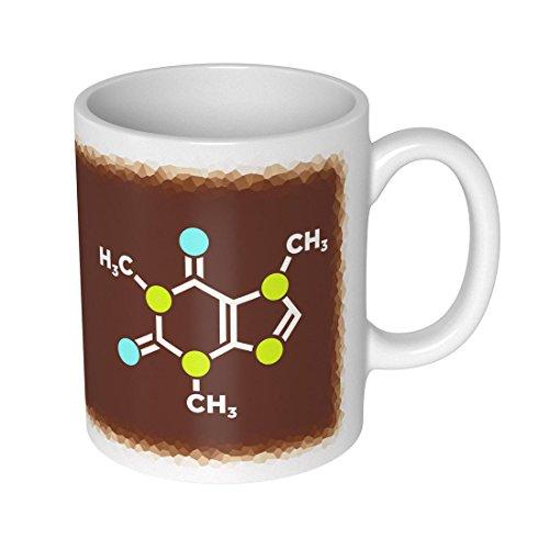 getDigital Koffein Molekül Becher Tasse für Nerds und Geeks, Keramik, weiß, 10 x 10 x 10 cm