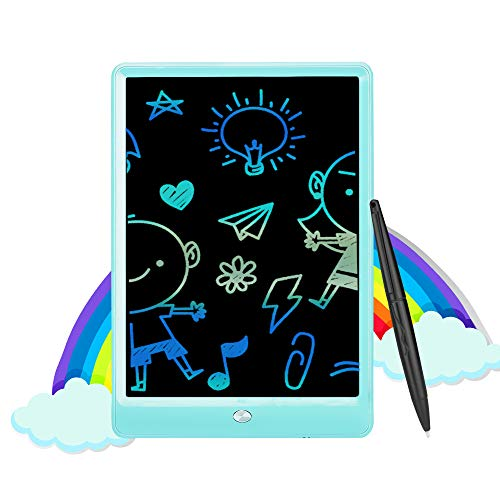TUNMCL Kids Educational LCD Writing Tablet,Electronic Colorful Screen Drawing Board,Traveling and Educational Learning Toy Gifts for 2 3 4 5 6 Year Old Kids(Blue)
