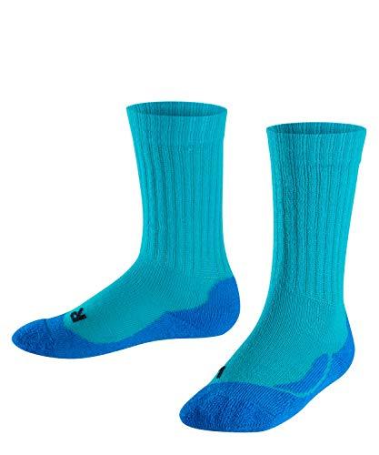 FALKE Kinder Socken Active Warm, Wollmischung, 1 Paar, Grün (Arctic 7300), Größe: 35-38