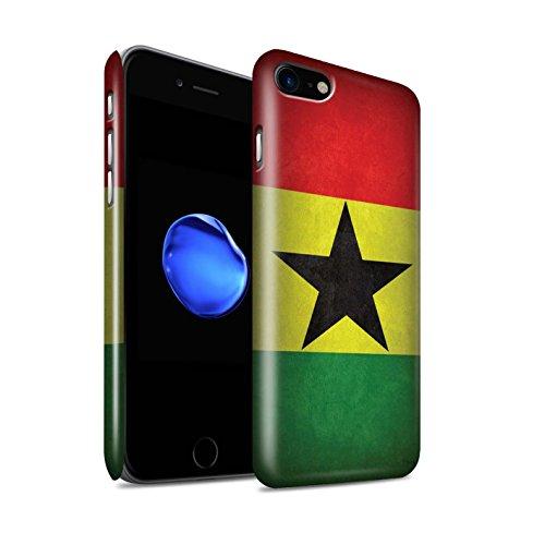Glanzend telefoonhoesje voor Apple iPhone SE 2020 vlaggen Ghana/Ghanaian design glanzend Ultra slank dun hard snapcover