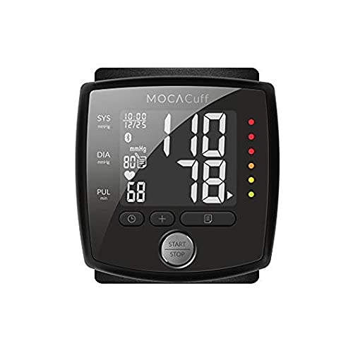 MOCACuff Portable Bluetooth Blood Pressure Monitor, Wrist Blood Pressure Monitor Cuff, Phone Connect Fully Automatic Accurate, CE 99 memory with hard shell Case, Tracking App for iPhone and Android