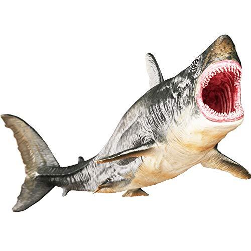 AKLDPD Megalodon Shark Simulation Tiermodell Spielzeug Meereslebewesen Tier Prähistorisches Haispielzeug Kinder Tierthema Partyspielzeug Kinder Jungenspielzeug Kinderzimmer Dekoration Spielzeug Geeign