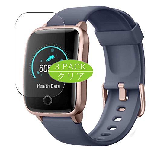 VacFun 3 Piezas Claro Protector de Pantalla, compatible con ORYTO LATEC 1.3' ID205S smartwatch Smart Watch, Screen Protector Película Protectora(Not Cristal Templado)