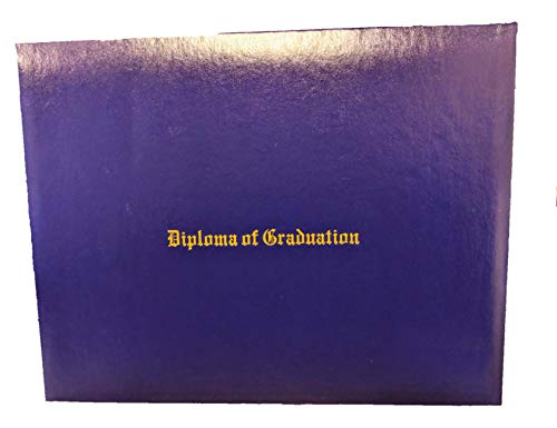 Custom Printed Diploma Certificate Cover - Document Holder, Leatherette (Purple, 8.5' x 11')