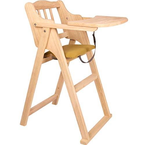 Comfortable Home Chaise Haute Pliante, Chaise de Salle à Manger pour bébé en chêne Naturel, Portant 50 kg, Convient au bébé de 6 Mois à 4 Ans
