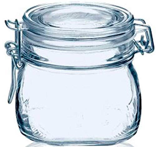 tarros cristal cocina bote con cierre hermetico con tapa Pack de 6 botes para alimentos menaje de cocina tarro con cierre manual de aluminio ideal para conservas alimentos kombucha (6x-500Ml)