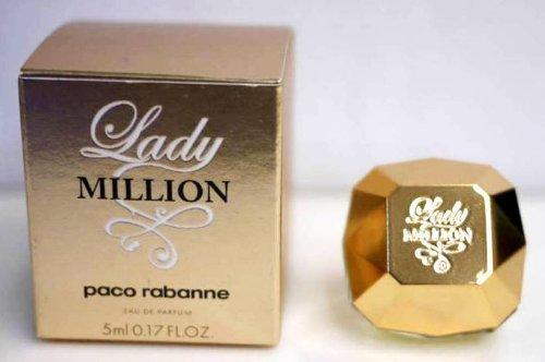 Lady Million by Paco Rabanne 0.17 oz Eau de Parfum Miniature Collectible (0.17 Ounce Miniature Collectible)