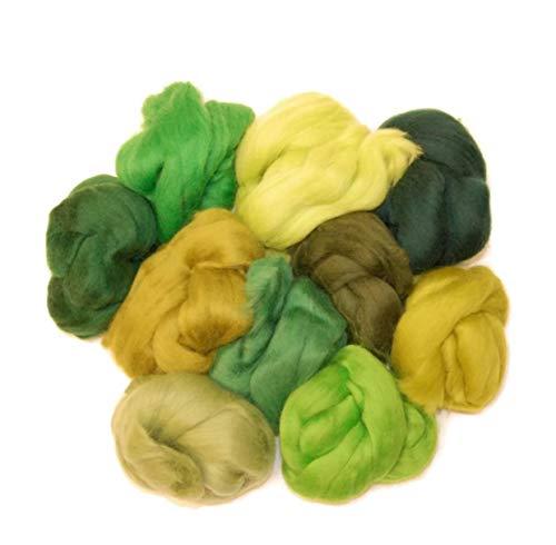 50g-mano Spinning-Aguja Fieltro Rubia fibra de lana Merino Roving//Tapas