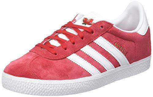 adidas Gazelle J, Scarpe da Ginnastica, Scarlet/Ftwr White/Active Red, 38 2/3 EU
