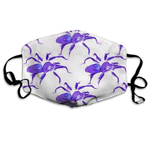 Aquarell der violetten Spinne zu Halloween. Ostern St. Patrick's Day Wiederverwendbare waschbare Gesichtsschutzhülle für den persönlichen Schutz
