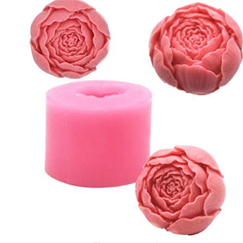 Molde de silicona con forma de rosa para tartas y chocolate, bandeja para hacer manualidades con flores y jabón para hornear jaleas, azúcar, decoración de cupcakes, molde de arcilla poliméri