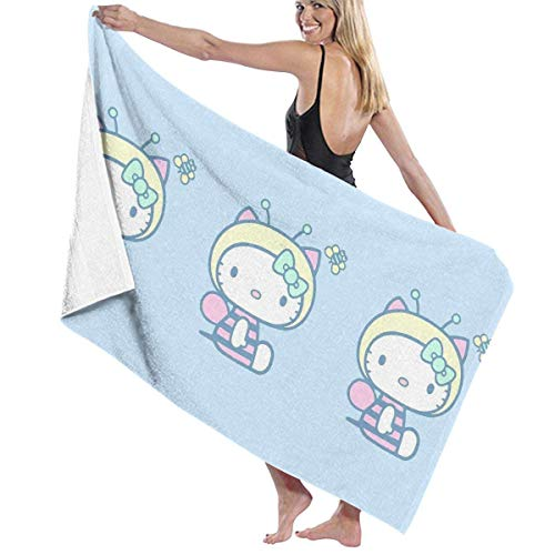 Hello Kitty Lindo de Secado rápido Muy Absorbente de Uso Multiusos Toallas de baño Toallas de Playa Toallas de Piscina 31 X 51 para Mujeres Hombres