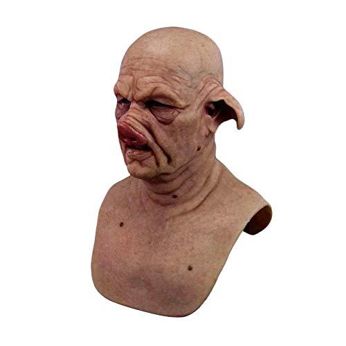 WXGY Halloween Gruselmaske Schwein Latex Maske Kopfbedeckung Kostüm Cosplay Requisiten für Erwachsene