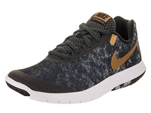Nike Women's Flex Experience Rn 6 Running Shoe (5.5 Black/Metallic Gold/Anthracite)