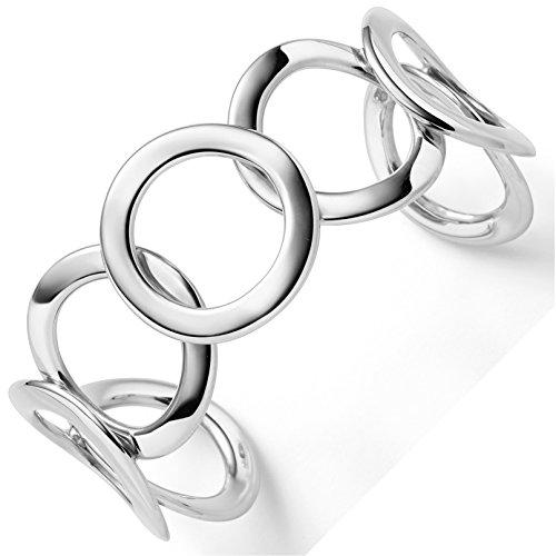 Breite Armspange Armband Armreif Armschmuck 585 Gold Weißgold Ringe 27,5mm breit