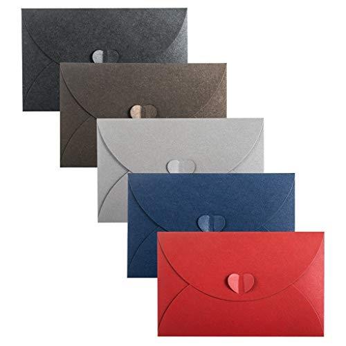 20 Stück Herz Briefumschläge Perlmutt Papier Umschlag, Postkarte Umschlag herzförmigen Umschlag Kuvert Briefkuvert Briefhülle fur Grußkarten Einladung Geburtstagskarten Hochzeit eihnachten