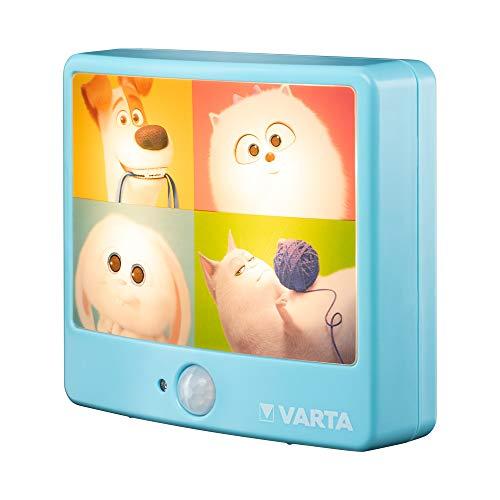 VARTA Pets Bewegungslicht inkl. 3xAAA Longlife Power Batterien Taschenlampe, Orientierungslicht, Stimmungslicht für Schlafzimmer mit Bewegungssensor und An- und Ausschaltfunktion