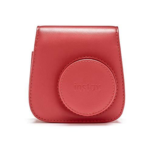 Instax Mini 90 Schutzhülle aus PU-Leder mit Tragegurt , rot (poppy red) , mini 9