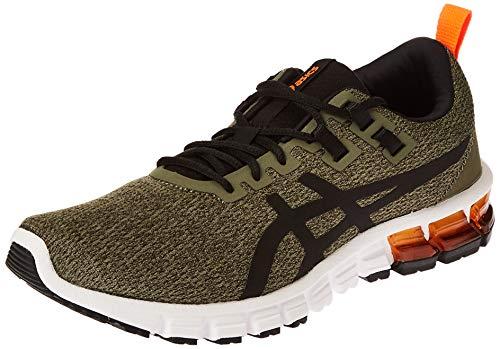 Asics Herren Gel-Quantum 90 Running Shoe, Olive Canvas/Black, 44.5 EU