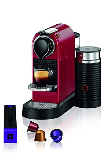 Nespresso Citiz XN7615 Roja EU, acero inoxidable, Citiz&Milk Granate