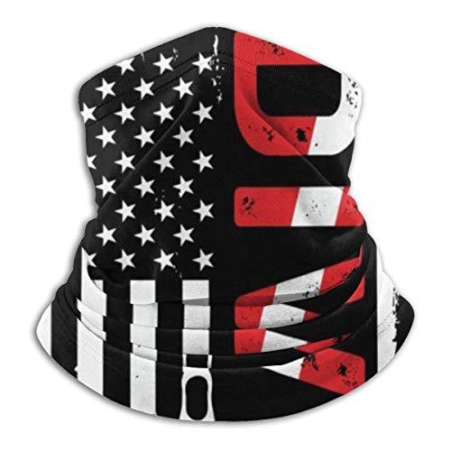 Double Cheese Tauchen American Diver Flag Halsmanschette Kopfbedeckung Bandana Magic Scarf Sturmhaube Gesicht Sun Scarf Black