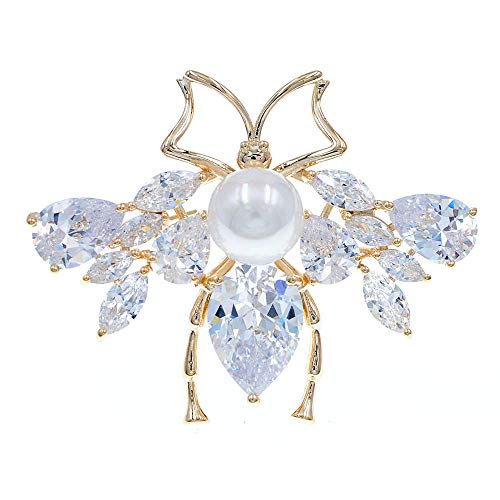 GLKHM Brooches & Pins Bee Brooches Women Insect Pin Brooch Copper Accessories