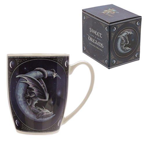Tazza mug colazione - Sweet Dreams Dragon and Moon - Drago Nero sulla Lu