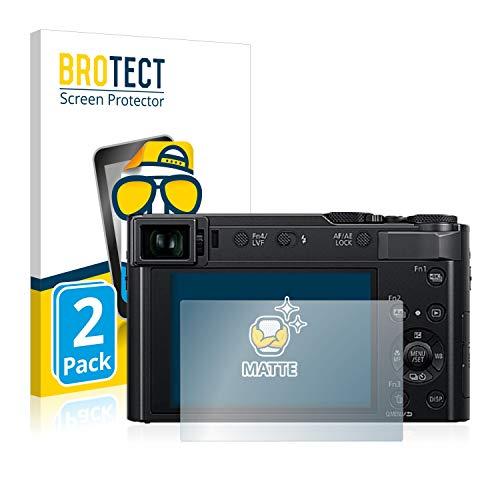 BROTECT 2X Entspiegelungs-Schutzfolie kompatibel mit Panasonic Lumix DC-TZ202 Displayschutz-Folie Matt, Anti-Reflex, Anti-Fingerprint