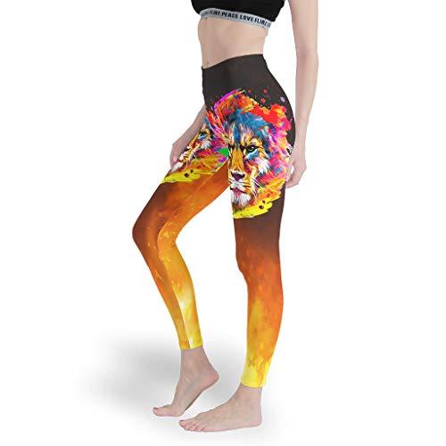 Toomjie Yoga Broek vrouwen Tummy Controle en Elastische Ondoorzichtige Slim Leggings Leeuw Tijger Luipaard Thema Slim Fit Butt Lift Broeken