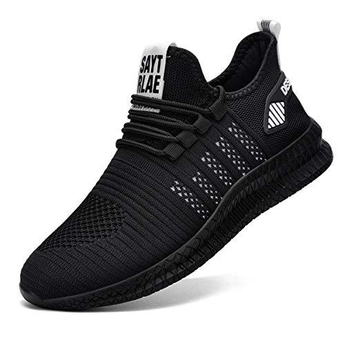 Ziboyue Sicherheitsschuhe Herren Damen Leicht Arbeitsschuhe, Schutzschuhe Sportlich mit Stahlkappen Atmungsaktiv Schuhe (Schwarz/Weiß,43 EU)