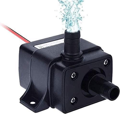 Allnice Mini SubmersibleWaterPump(240L/H, 4.8W) 12v Electric Brushless Submersible Fountain Pump with 9.8ft High Lift Outdoor Water Pump with 1.4ft Power Cord for Aquarium, Pond, Hydroponics